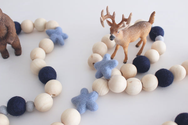 Felt and Wooden Ball Garland - The Alps Accessories Winston + Grace