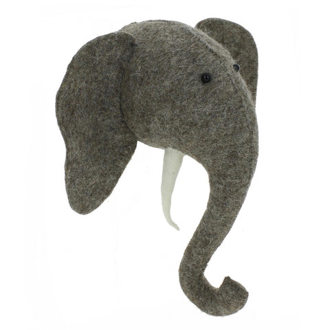 Fiona Walker Felt Animal Head - The Mini Elephant  Winston + Grace