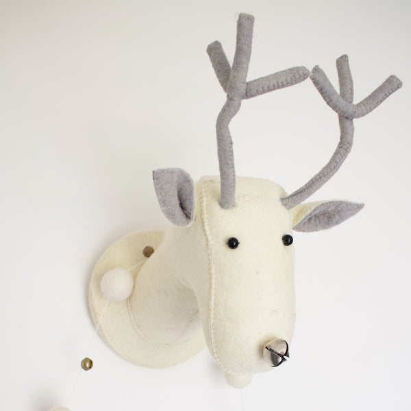 Fiona Walker Felt Animal Head - The Cream Reindeer  Winston + Grace