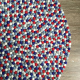 Felt Ball Rug - The Red Sea  Winston + Grace