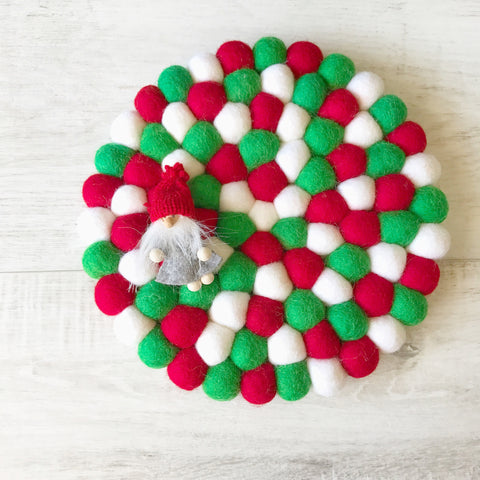Felt Ball Mini Mat - Christmas Cheer - Winston + Grace