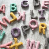 Felt Alphabet Garland - Pretty Pastel Accessories Winston + Grace