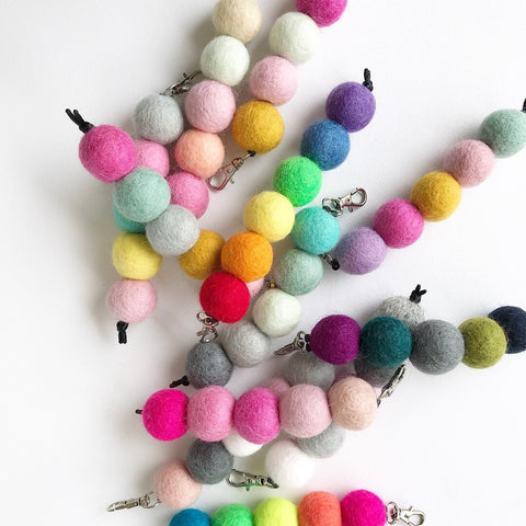 Felt Ball Key Chain / Bag Tags  Winston + Grace