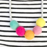 Felt Ball Necklace - Lucy Lolly  Winston + Grace