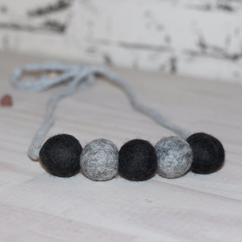 Felt Ball Necklace - The Rock Chick  Winston + Grace