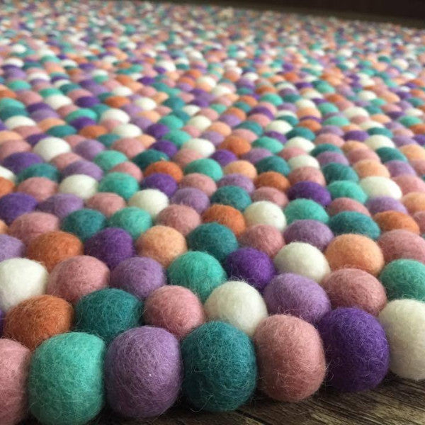 Felt Ball Rug - Lavender Fields  Winston + Grace
