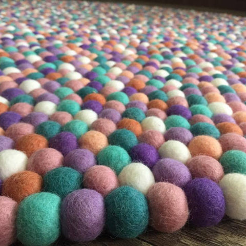 Felt Ball Rug - Lavender Fields - Winston + Grace