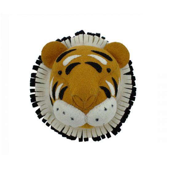 Fiona Walker Felt Animal Head - The Mini Tiger  Winston + Grace
