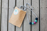 Felt Ball Necklace - The Knock on Navy  Winston + Grace