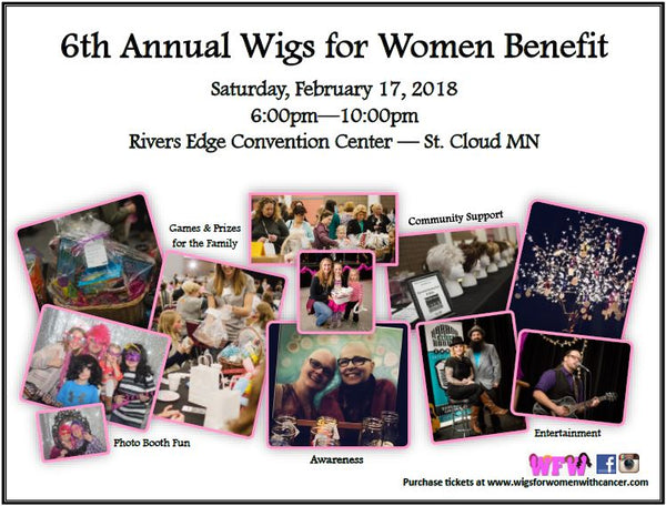6th Annual Wigs for Women Benefit poster