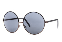 Allison Faux Leather Frame Hippie Sunglasses
