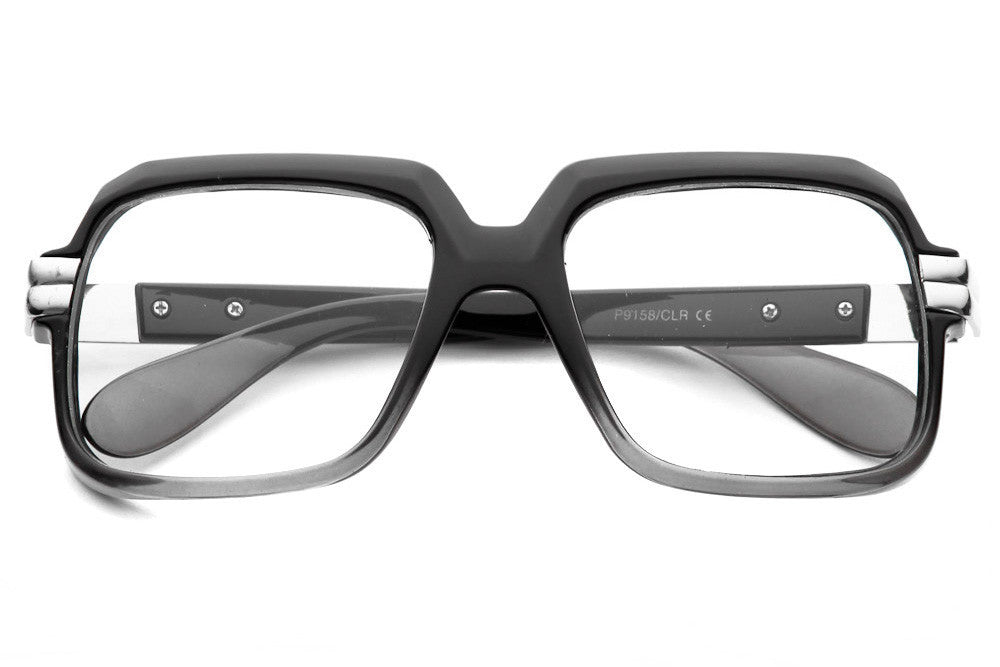 Bloc Square Vintage Clear Lens Glasses