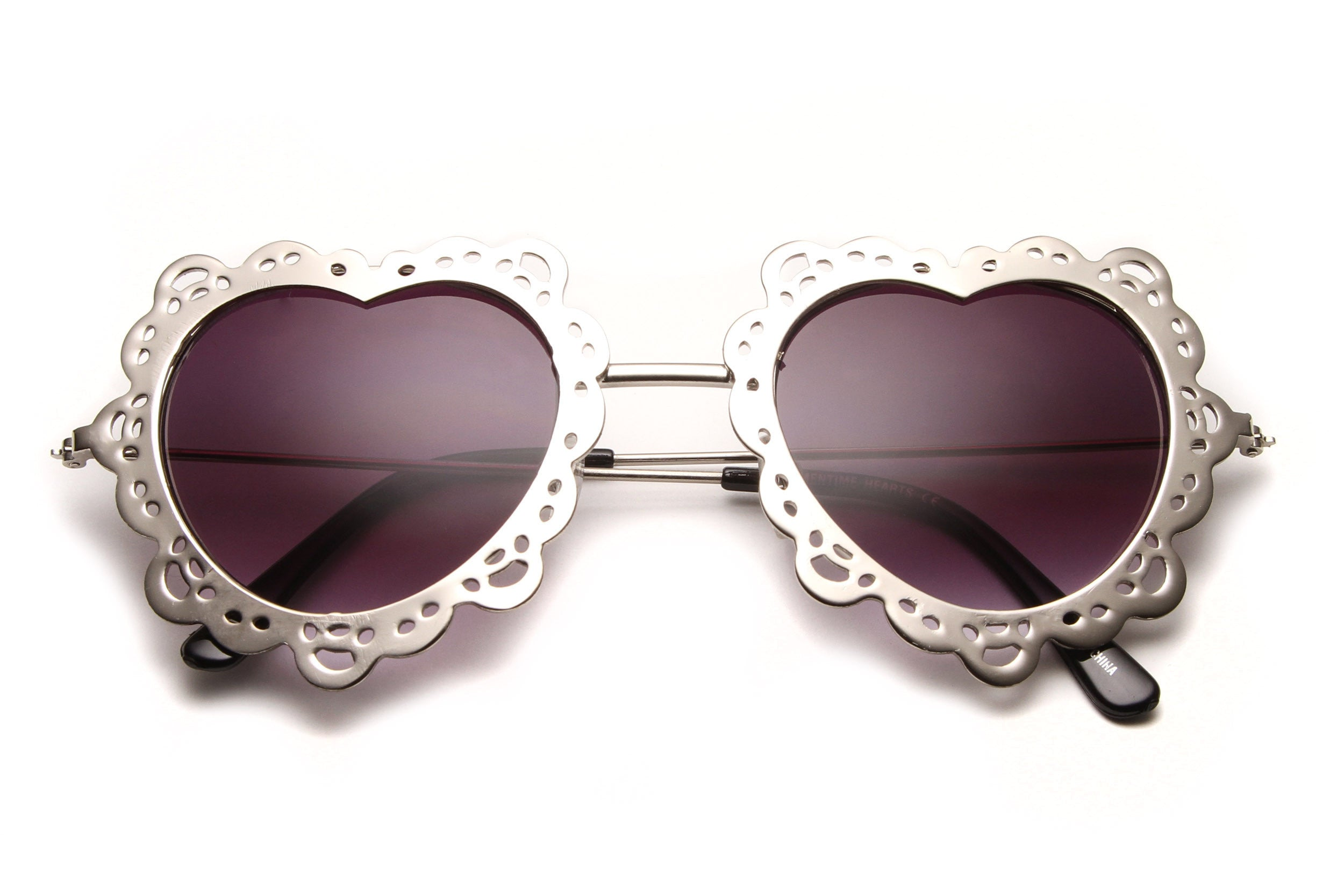 Charlotte Rose Cut Out Metal Sunglasses