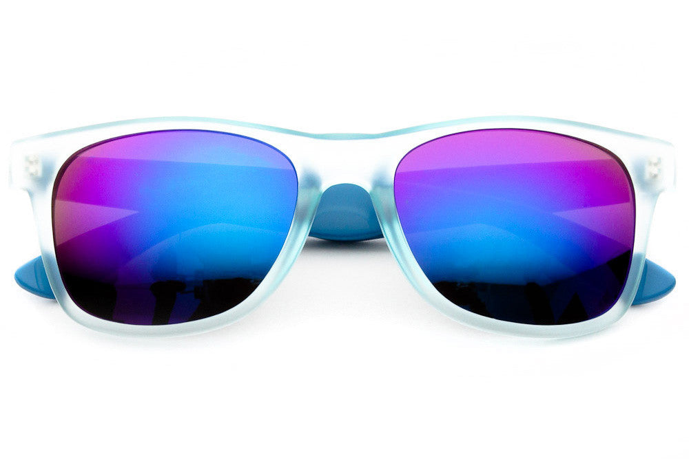 Colored Revo Mirrored Wayfarer