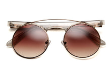 Fala Round Framed Flat Brow Sunglasses