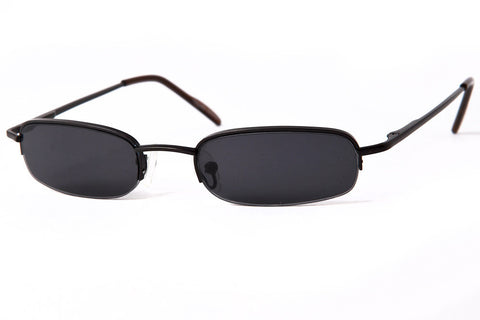 Fortune Small Half Frame Rectangle Sunglasses