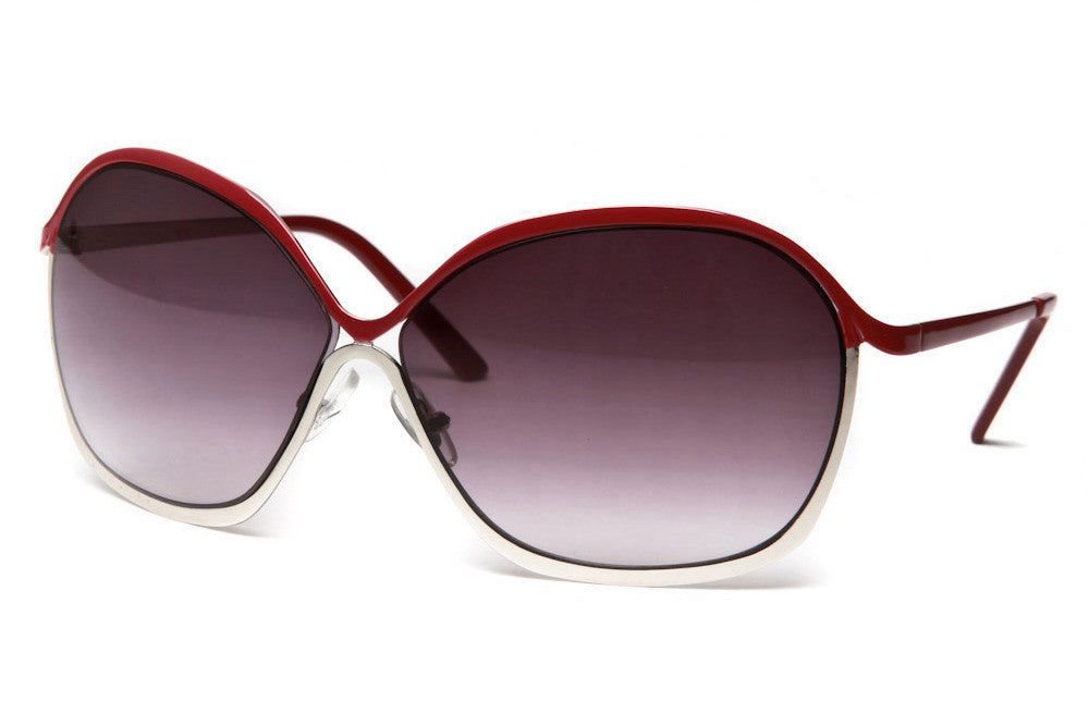 Helena Oversized Metal Frame Sunglasses