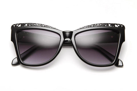 Izusa Ornate Metal Framed Wayfarer Sunglasses