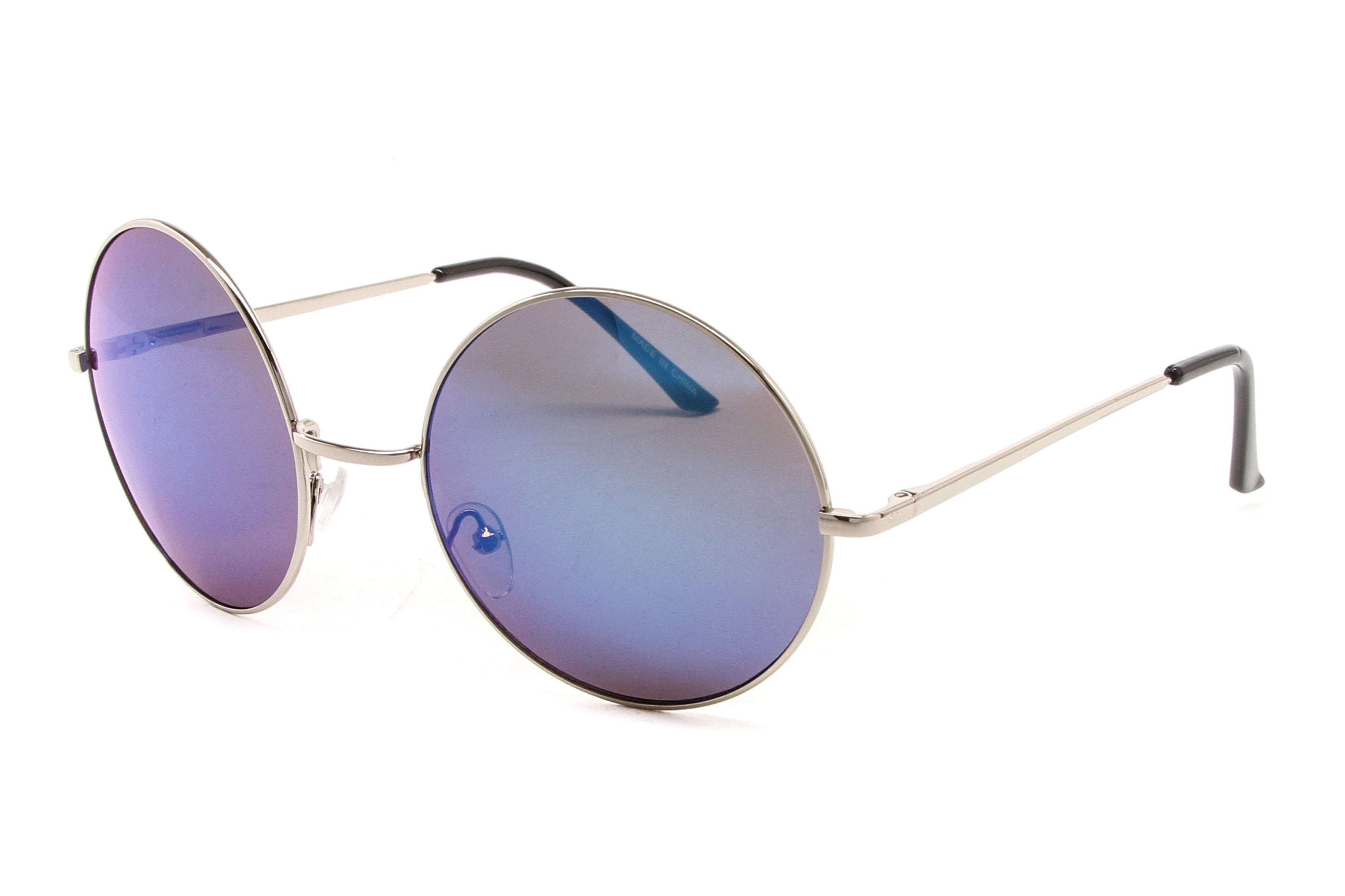 Kayla Oversized Colored Revo Mirrored Sunglasses