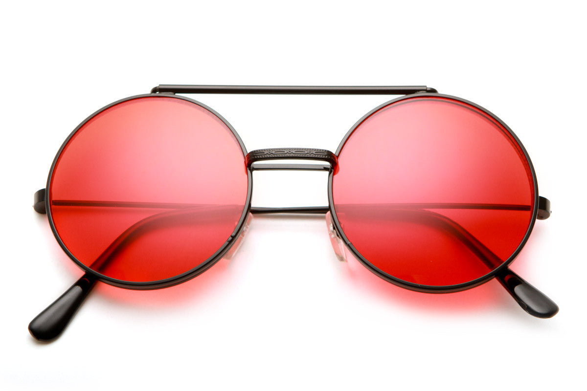 Lennon Hippie Style Flip Up Colored Sunglasses