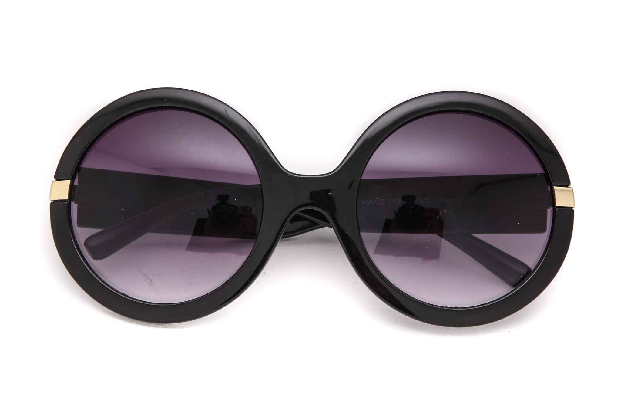 Marble Round Oversized Sunglasses