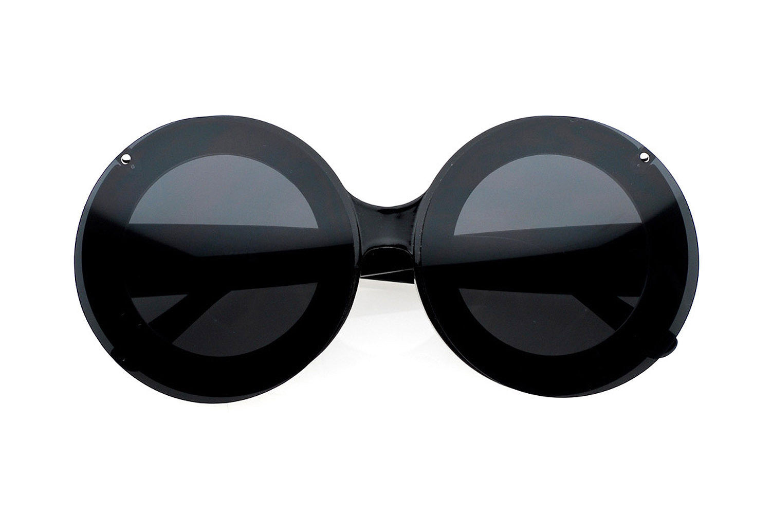 Mickey Oversized Round Flip Clear Lens Sunglasses