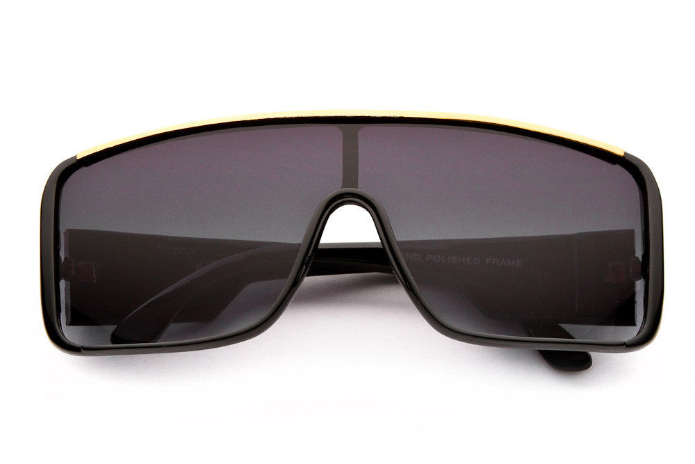 Noble Oversized Shield Sunglasses