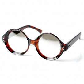 Observer Round Mirrored Clear Glasses
