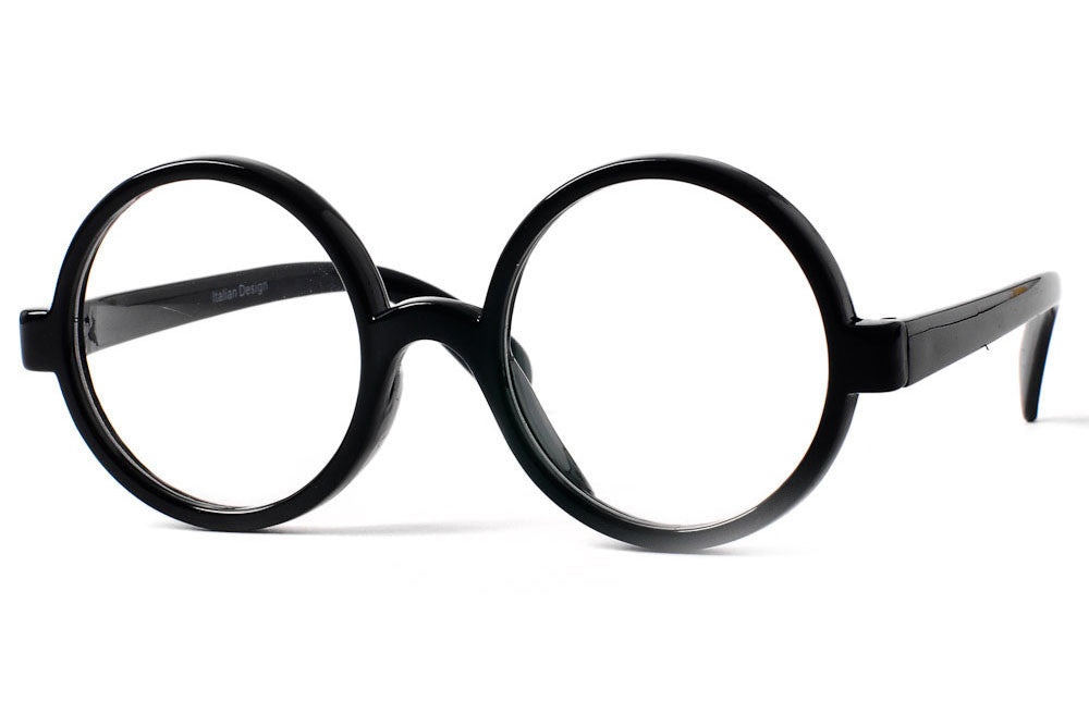Oxford Round Frame Clear Lens Glasses