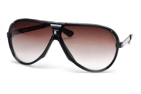 Racer Retro Plastic Aviator Sunglasses