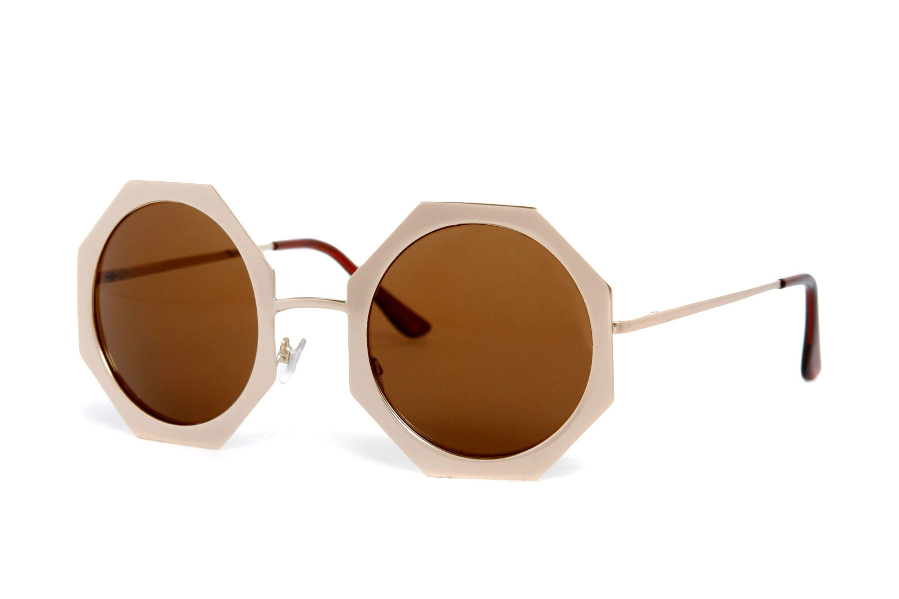 Sheela Octagon Metal Sunglasses