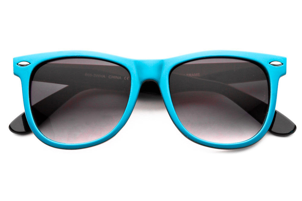 Shindig II Two Tone Colored Wayfarer Sunglasses