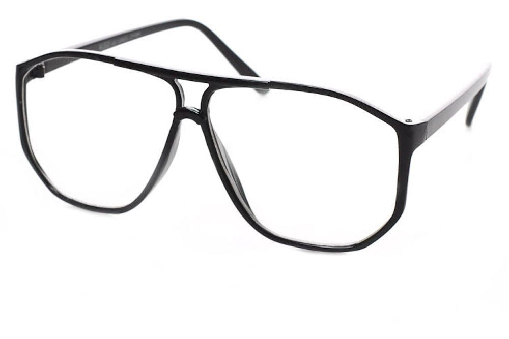 Sudoku Clear Lens Aviator Glasses