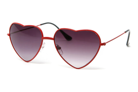 Thin Modern Metal Heart Sunglasses