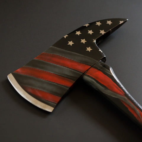 """Stars & Stripes"" Hand-Painted Axe"