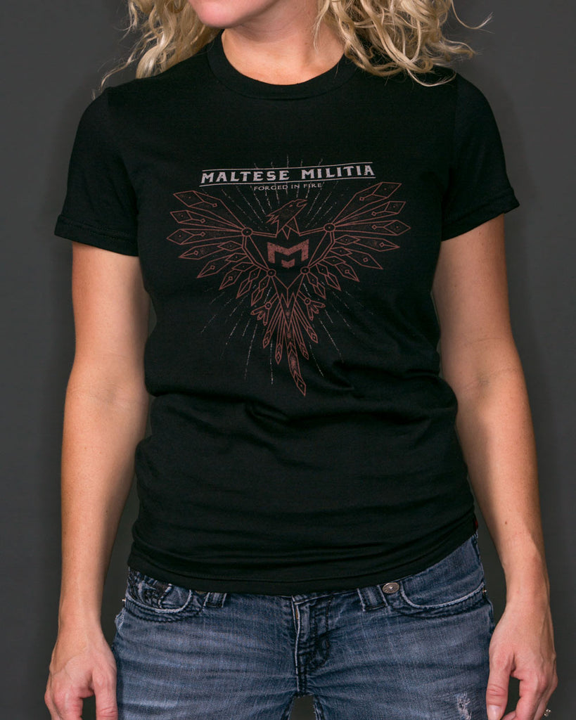 Phoenix Rising | Black T-Shirt | Women