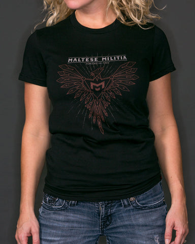Phoenix Rising | Black T-Shirt | Women's