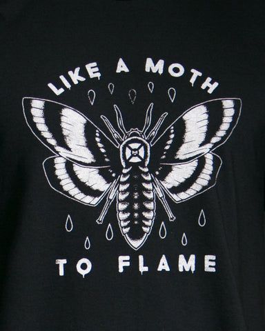 Moth | Black T-Shirt | Women's