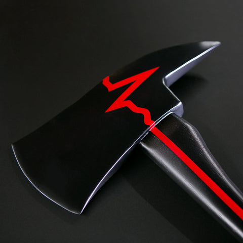 """Thin Red Line - Distressed"" Axe 