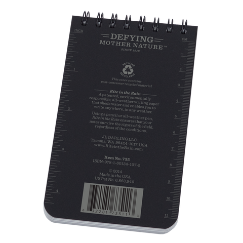 "Nº 735 All-Weather | Black 3"" x 5"" Notepad"