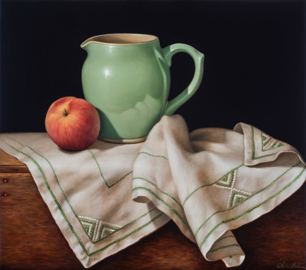 STILL LIFE WITH ART DECO CLOTH