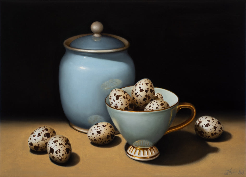 STILL LIFE WITH DUCK EGG BLUE