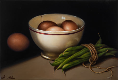 STILL LIFE WITH EGGS & BEANS