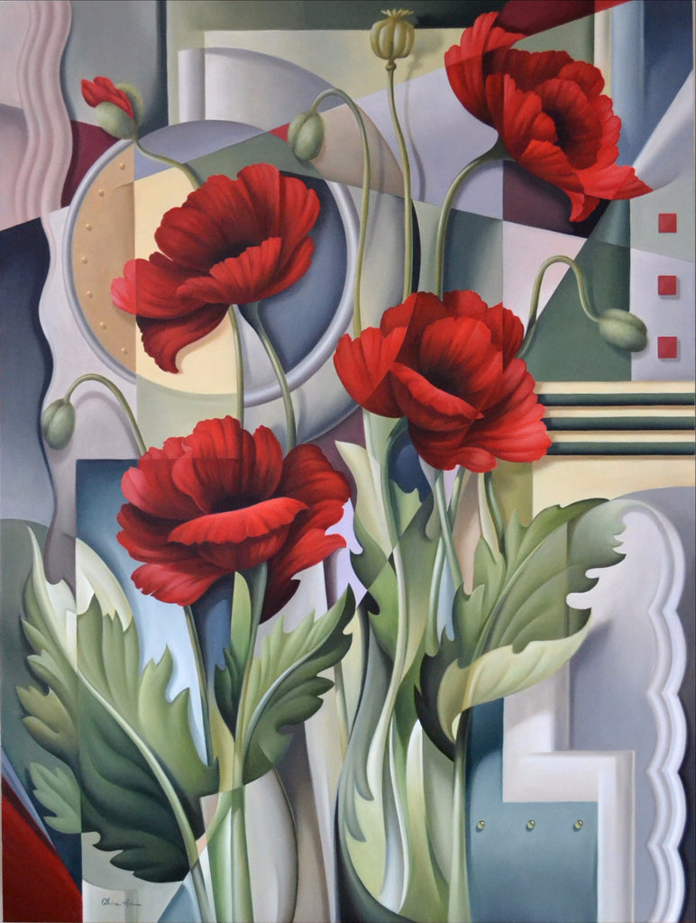 CUBIST POPPIES