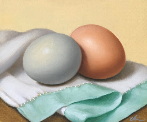 EGGS ON LINEN CLOTH I