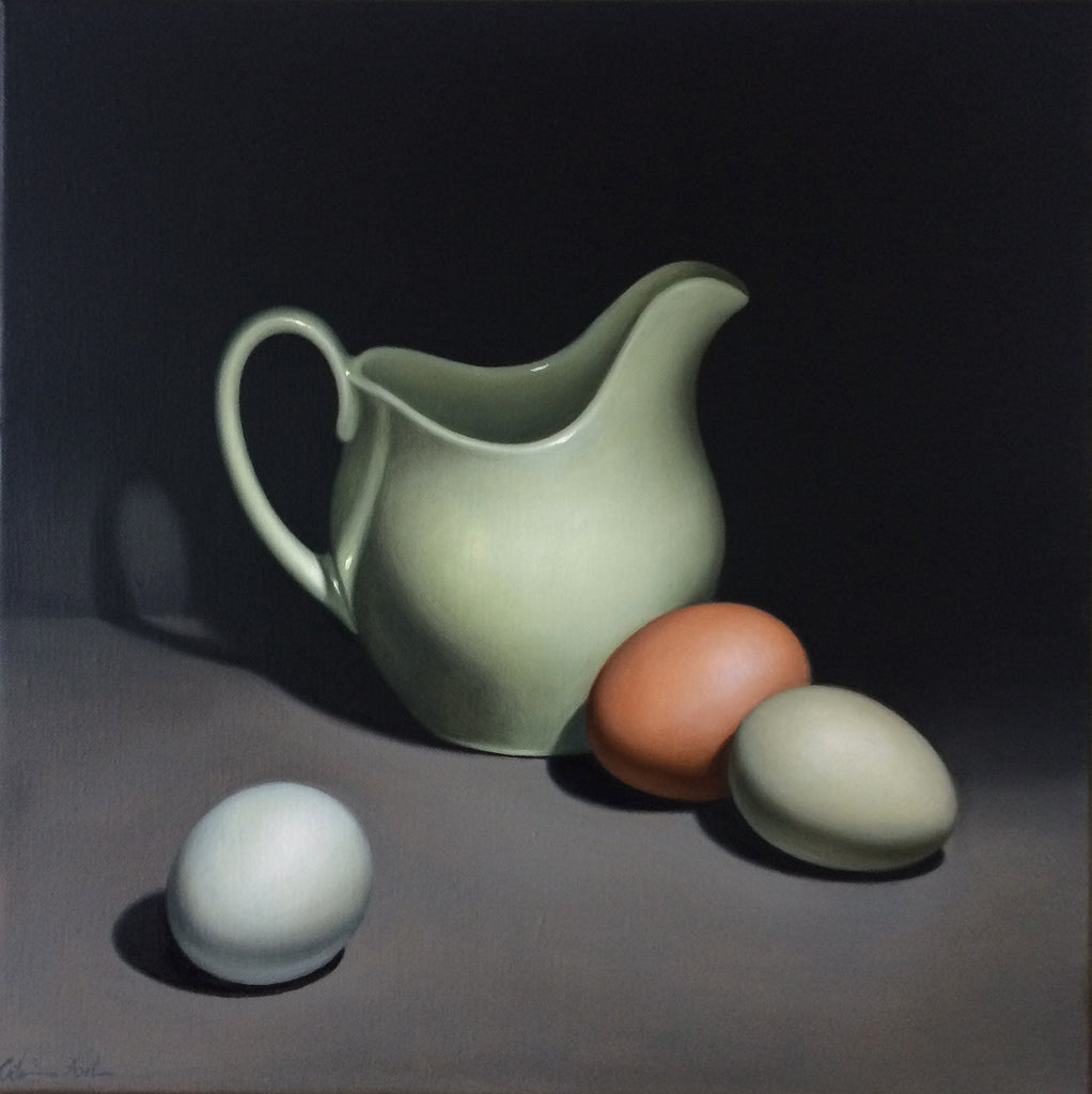 STILL LIFE WITH THREE EGGS