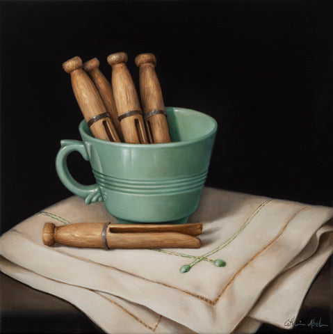 STILL LIFE WITH WOODEN PEGS - archival print