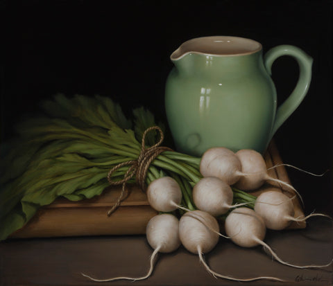 STILL LIFE WITH BABY TURNIPS