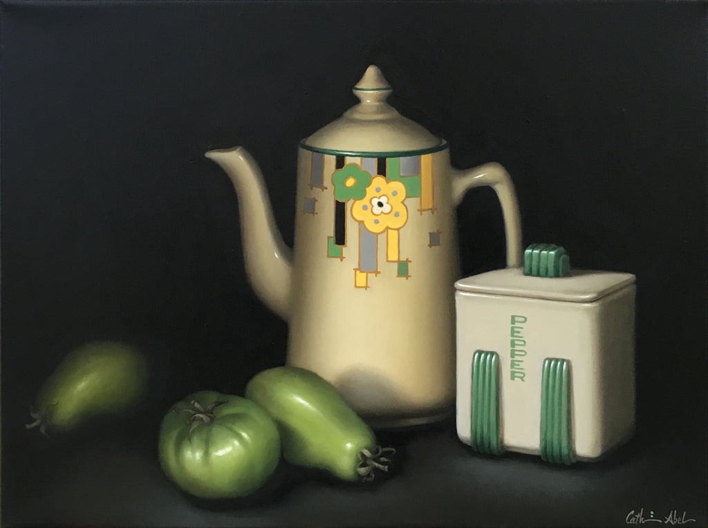 STILL LIFE WITH GREEN TOMATOES