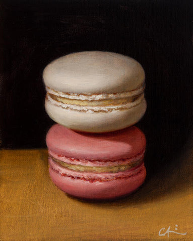 STILL LIFE WITH TWO MACARONS